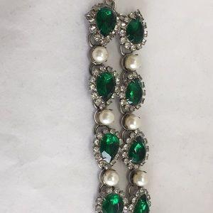 Gorgeous vintage 'emerald' bracelet.